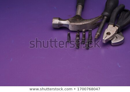 Rusty spanner over white Stock photo © lucielang