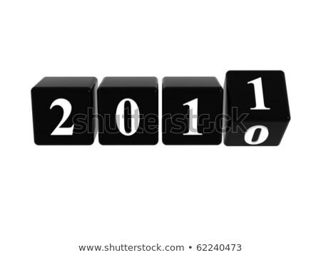 begin · 2010 · 3D · cijfer · Open · witte - stockfoto © marinini