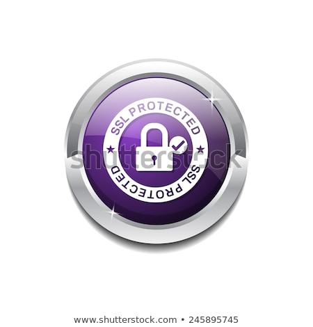 ssl · 保護された · リンク · 紫色 · ベクトル · アイコン - ストックフォト © rizwanali3d