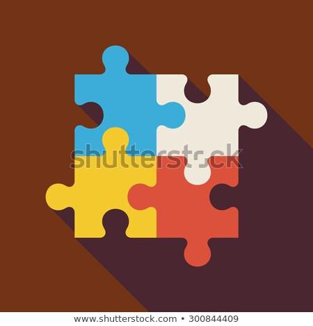 Solution Creativity Puzzle Flat Icon Stock photo © Anna_leni