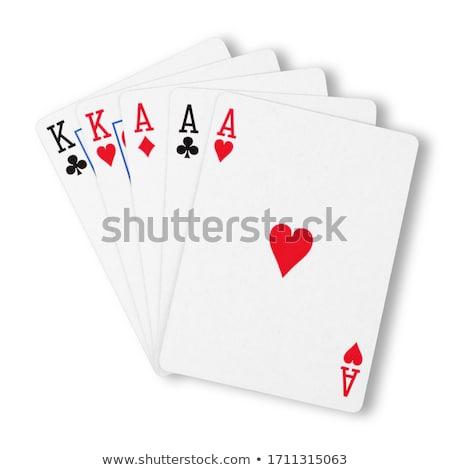 Poker Cards - Fullhouse Aces over Kings Stock photo © hsfelix