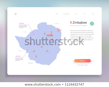 orange button with the image maps of Zimbabwe Stock photo © mayboro