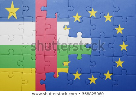 European Union and Central African Republic Flags in puzzle  Stock photo © Istanbul2009