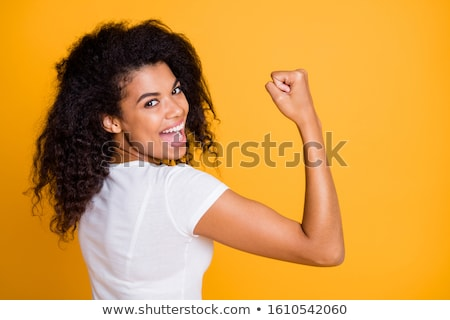 Africaine femme grimace portrait cute posant Photo stock © HASLOO