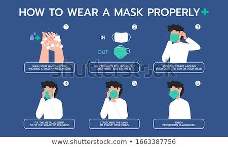 femenino · paciente · máscara · de · oxigeno · blanco · mujer · médicos - foto stock © ia_64
