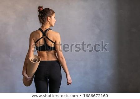 ストックフォト: 戻る · フィットネス · ルーム · アスレチック · 若い女性