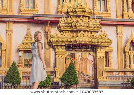 Templom gyönyörű pagoda híres hely istentisztelet Stock fotó © Yongkiet