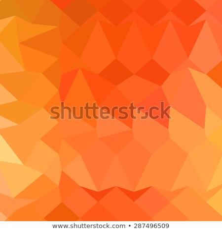スペイン語 オレンジ 抽象的な 低い ポリゴン スタイル ストックフォト © patrimonio