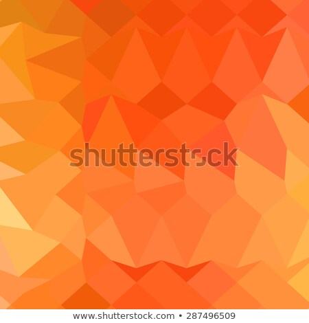 Spanish Orange Abstract Low Polygon Background Stock photo © patrimonio