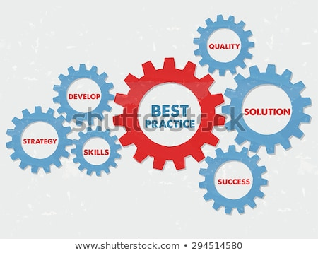best practice and concept words in grunge flat design gears Stock photo © marinini