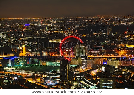 Overview of London with the Elizabeth Tower Stock photo © AndreyKr