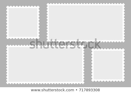 Postabélyeg album nyitva nagyító lencse izolált Stock fotó © vtls