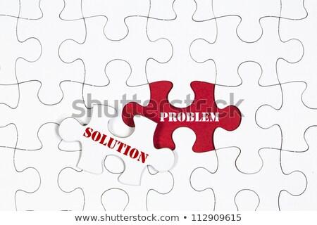 Job - Jigsaw Puzzle with Missing Pieces. Stock photo © tashatuvango