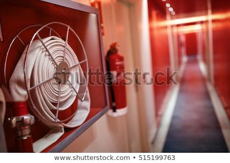 Tűz tűzoltó készülék izolált fehér víz textúra Stock fotó © scenery1