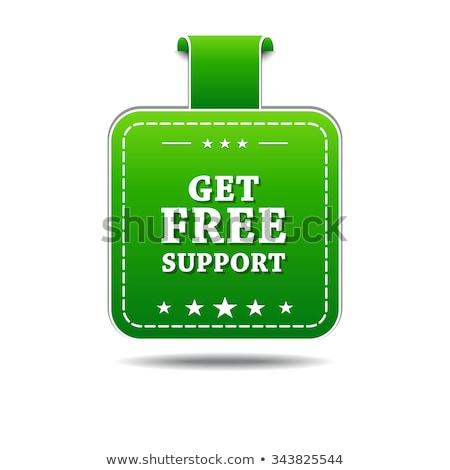 Get Free Support Green Vector Icon Design Stock photo © rizwanali3d