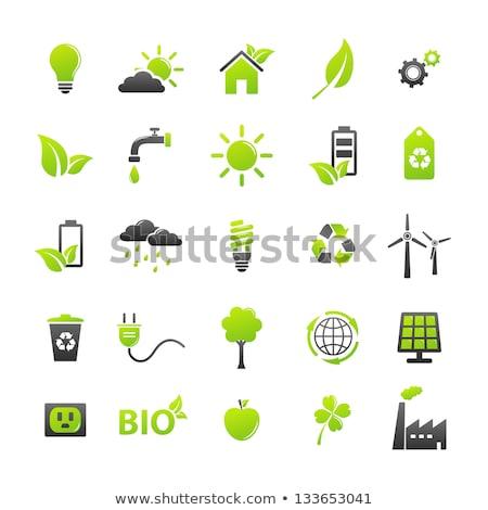 Stock photo: Cloud Green Vector Icon Design