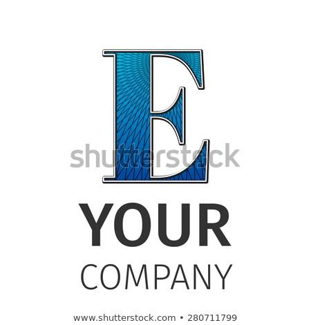 abstract guilloche logo letter e stock photo © netkov1