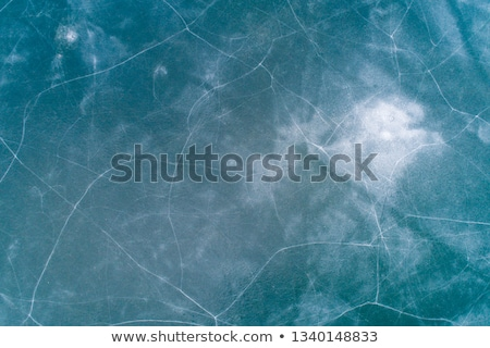 живописный · заморожены · озеро · льда · рыбалки · зеленый - Сток-фото © harlekino