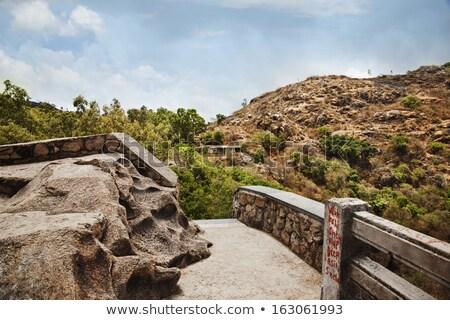 Miesiąc miodowy punkt dzielnica Indie niebo drzewo Zdjęcia stock © imagedb