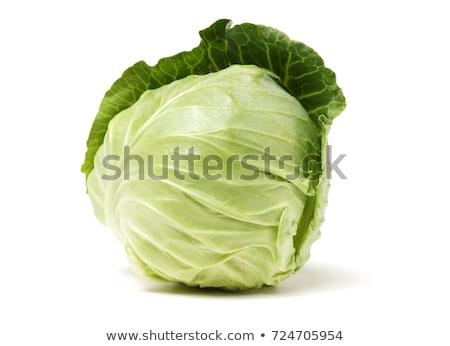 зеленый капуста изолированный белый продовольствие лист Сток-фото © tetkoren