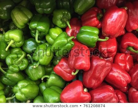 Green and red peppers in the market Stock photo © lunamarina
