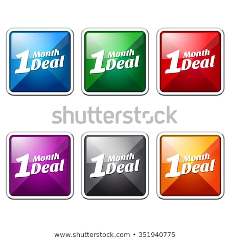 1 month deal blue vector icon button stock photo © rizwanali3d