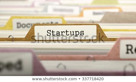 startups concept on folder register stock photo © tashatuvango