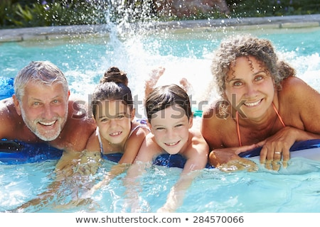 nonno · nuoto · nipote · insieme · piscina · outdoor - foto d'archivio © paha_l