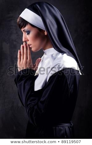 Flaco mujer velo sujetador superior alto Foto stock © jrstock