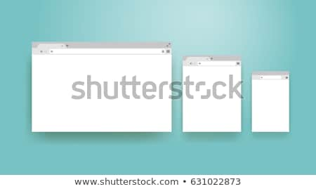 Web sayfa pencere dizayn stil Stok fotoğraf © robuart