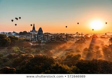 Temples in Bagan at sunrise, Myanmar Stock photo © Mikko