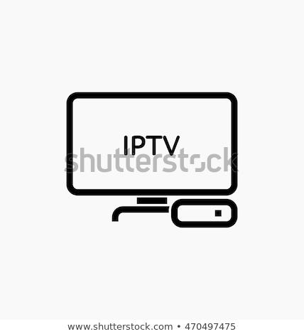 Android телевизор Top окна изолированный белый Сток-фото © artush