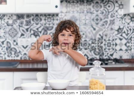 Little boy muscle Stock photo © zurijeta