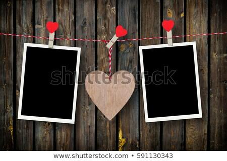 Foto stock: Dos · corazones · foto · edad · fotos · fotos