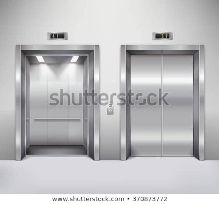 realistic chrome metal office building elevator stock photo © klss