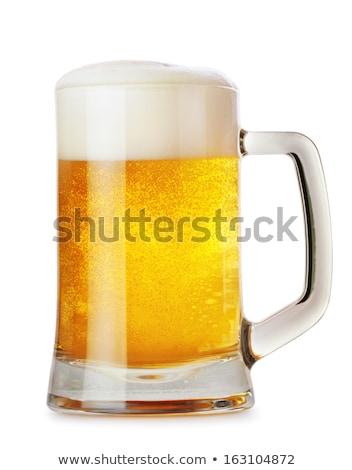 морозный · пива · кружка · стекла · изолированный · белый - Сток-фото © zerbor
