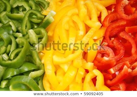 Full frame groene paprika vers gezond eten groenten Stockfoto © ozgur