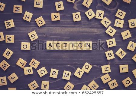 Puzzle szó diéta kirakó darabok építkezés fitnessz Stock fotó © fuzzbones0