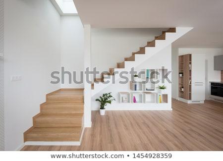 üres lépcsőfeljáró absztrakt modern épület textúra terv Stock fotó © donatas1205