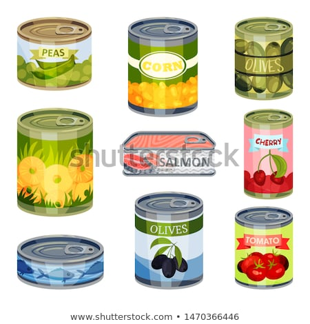 Salmon in aluminum can Stock photo © bluering