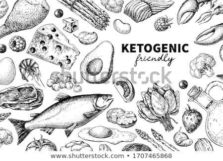 Fish Banner. Healthy Food Concept. Vector Stock photo © robuart