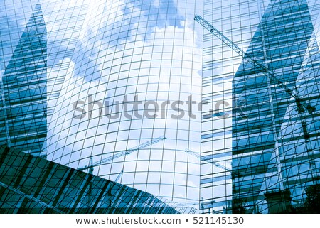 Réflexion bâtiment de verre Pologne affaires ville bleu Photo stock © ldambies