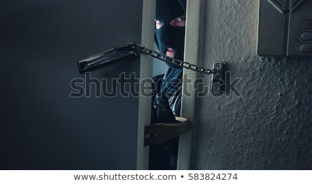 suç · ceza · el · yalıtılmış · beyaz · ev - stok fotoğraf © michaklootwijk