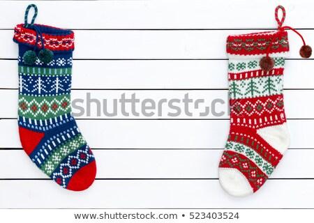 Renkli Noel stoklama boş bekleme baba Stok fotoğraf © ozgur