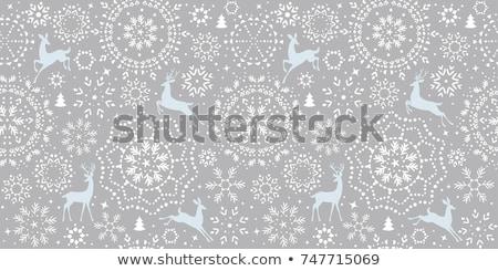Snowflakes seamless pattern. EPS 10 Stock photo © beholdereye