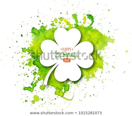 Abstrato colorido quatro folha coração Foto stock © cidepix