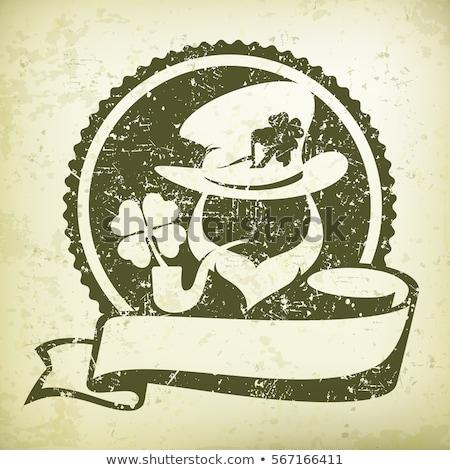 Leprechaun circle logo Stock photo © creatOR76