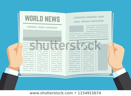 Man reading newspaper with the headline Newsletter Stock photo © Zerbor