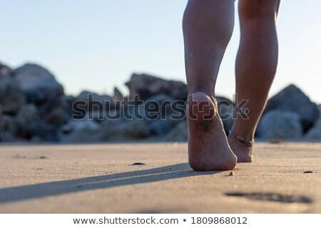 Stock photo: Woman at Atlantic ocean