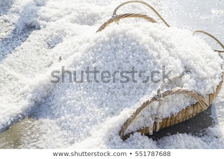 durva · só · fából · készült · tál · étel · wellness - stock fotó © digifoodstock